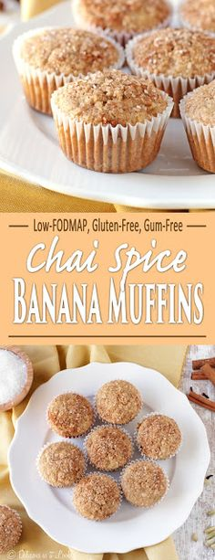 Low-FODMAP Chai Spice Banana Muffins {Gluten-Free, Gum-Free}  /  Delicious as it Looks