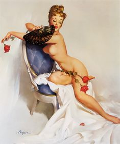 """Gil Elvgren - """"The Norman Rockwell of Cheesecake!"""" Vintage Pinup"""
