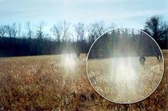 "Photo taken by me during the week of New Year's Eve, 1999, at the ""Old Stone Fort"" in Manchester, TN. The field is part of a 2,000-year-old Native American Ceremonial site maintained and operated by the Tennessee State Archaeological Dept. Apparition was not visible to the naked eye. The person in the background is a friend of mine."