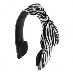 iHip Snooki Couture 2-In-1 Headband Headphones - Zebra Print