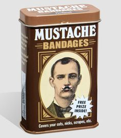 Bandaids, especially ones I wouldn't mind putting on my upper lip and then ripping it off later.