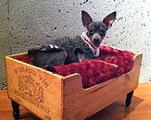 Wine Crate Puppy Bed!! <3