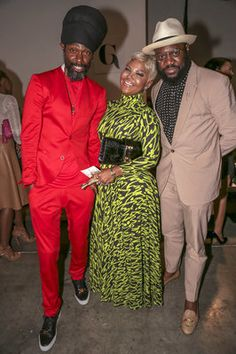 NEW YORK, NY - SEPTEMBER 10:  (L-R) Groovey Lew, Misa Hylton, and Mike B. attend Harlem's Fashion Row Spring 2016 presentation during New York Fashion Week on September 10, 2015, in New York City.  (Photo by Johnny Nunez/FilmMagic)