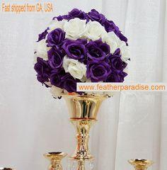 Rose Flower Pomander Wedding Decoratin Ball by FeatherParadise