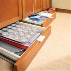 DIY add bottom drawers for extra storage