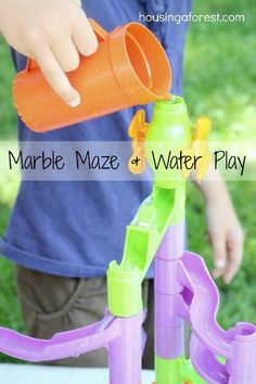 Marble Maze and Water Play - great way to give new life to an old toy!
