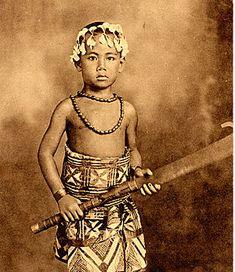 Young Toa O Samoa in his Siapo.