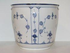 Royal Copenhagen Blue Fluted Plain flower pot pre-1923