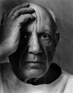 Pablo Picasso,Vallauris, France, 1954 by Arnold Newman