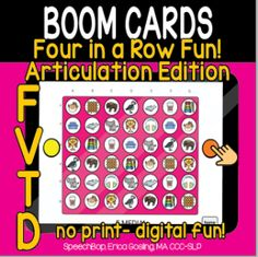 Boom Cards - Speechbop Two Player Games, Data Tracking, See And Say, Receptive Language, Speech Therapy, Vocabulary, The Row, Distance, Initials