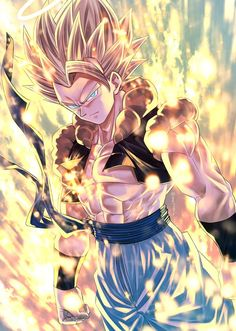 Goku and Vegeta fusion makes Gogeta Dragon Z, Dragon Ball Gt, Dragon Ball Z Iphone Wallpaper, Gogeta E Vegito, Thanos Avengers, Dragon Ball Image, Super Anime, Z Arts, Animes Wallpapers