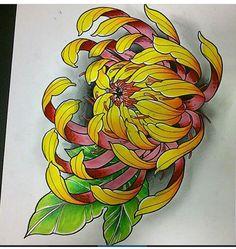 tattoos in japanese prints Japanese Flower Tattoo, Japanese Tattoo Designs, Japanese Sleeve Tattoos, Japanese Flowers, Flower Tattoo Designs, Flower Tattoos, Crisantemo Tattoo, Japanese Drawings, Japanese Prints