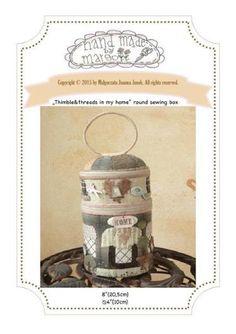 """Thimbles & Threads""©- round box"