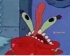 Funny Spongebob Faces, Spongebob Pics, Stupid Funny Memes, Funny Relatable Memes, Ayyy Lmao, Crying Emoji, Mr Krabs, Funny Doodles, Rawr Xd