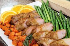 Janet & Greta Podleski swear that this juicy main dish is their most popular recipe ever! Pork Recipes, Cooking Recipes, Healthy Recipes, Tasty Meals, Pork Ham, Pork Roast, Healthy Meats, Healthy Eating, Pork Marinade