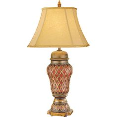 Verdun Aged Gold Leaf One-Light Table Lamp