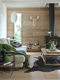 Smoked  Limed American Oak floors and walls by Royal Oak Floors. http://www.royaloakfloors.com.au Photo  Interiors: Doswell  McLean