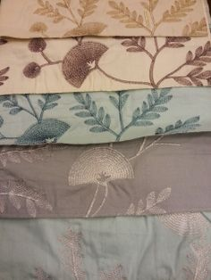 Soft Furnishing Fabric with embroidery lurex.