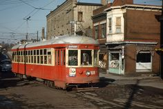Catching the trolley to Allentown from Bethlehem.