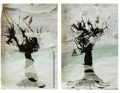 """Gemälde zum Gedicht """"Ich male mir den Winter"""" von Josef Guggenmoos Kunst Klasse 2"""