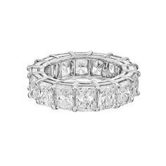 Radiant-Cut Diamond Eternity Band | From a unique collection of vintage wedding rings at http://www.1stdibs.com/jewelry/rings/wedding-rings/