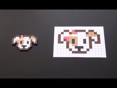 Cute Girl Puppy Perler Bead Pattern. Laceys Crafts is all about sharing super simple and adorable crafts for kids. Enjoy!