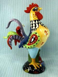 handpainted rooster figurine