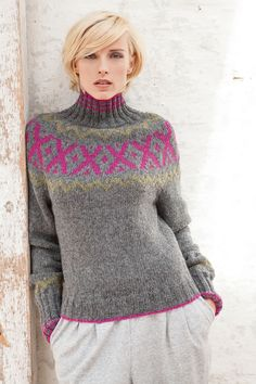 Lana Grossa RUNDPASSENPULLI AM Alpaca - FILATI Handstrick No. 57 - Modell 56 | FILATI.cc WebShop