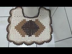 Crochet Carpet, Bathroom Sets, Crochet Designs, Straw Bag, Diy And Crafts, Crochet Necklace, Youtube, Peacock Bathroom, Bathroom Mat Sets