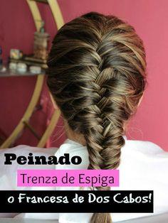 Peinado Facil: Trenza Francesa: Dos Cabos * Shelby Ruiz M