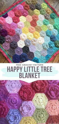 How to Crochet Happy Little Tree Blanket This is not just a regular selection of patterns, this is real poetry! Colorful Petal Blankets are going to blow your crochet-obsessed mind. You are going Crochet Afghans, Crochet Squares, Crochet Blanket Patterns, Baby Blanket Crochet, Knitting Patterns, Crochet Blankets, Hexagon Crochet Pattern, Scarf Patterns, Hexagon Quilt