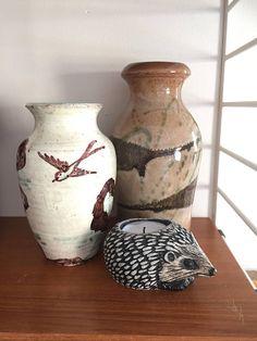 Mimmi Obbarius/pottery/ceramic/vase/beautiful/bird