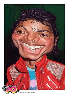 SUPERPO. Michael Jackson caricature by Rafa Caballero. All Rights Reserved…