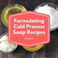 Formulating Cold Process Soap Recipes E-Course will have you creating your own custom skin-loving recipes in no time!  Every soapmaker starts out using a recipe from a book or blog, but soon gets the itch to formulate their own. With so many oil options and possible combinations, it can be hard to know where to start!  This course