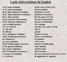 Latin Abbreviations in English Just in case we forget. Latin Quotes, Latin Phrases, Latin Words, Latin Sayings, Teaching Latin, Teaching English, Learn English, Latin Language Learning, English Tips
