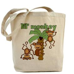 Lil Monkey Tote Bag CafePress has the best selection of custom t-shirts, personalized gifts, posters , art, mugs, and much more.{Cafepress-y9G8HPtO}