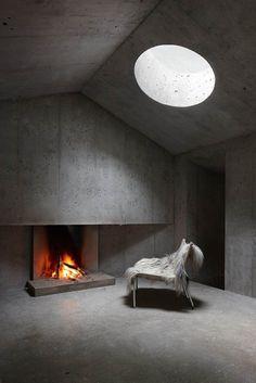 Concrete Cabin w/ Circular Skylight