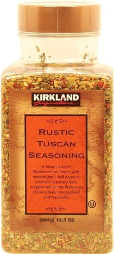 Traditional Kirkland Signature Rustic Tuscan Seasoning, 13.5-oz. plastic jar, ,