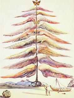 Felicitacion de Navidad - 1958 Salvador Dali Christmas card designs.