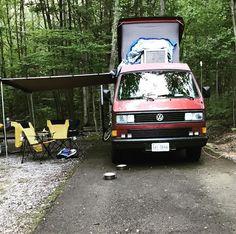 Camp. #vanagon #vanagon #awesomelyweird #dadventure #momandadventure