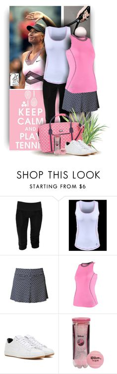"""""""Keep calm - play Tennis - Nicole's Tennis Boutique"""" by nicolestennisboutique ❤ liked on Polyvore featuring Jofit, AME and NIKE"""