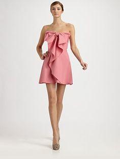 Valentino  Strapless Cotton Bow Dress  $2490.00