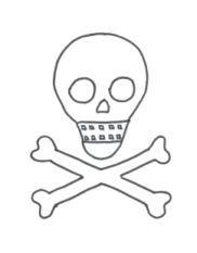 September Journal Cover Skull and Crossbones Design for