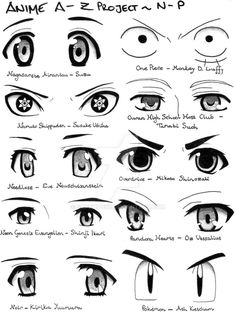 Anime A-Z Project N-P by Sapphire56 on DeviantArt Anime Drawings Sketches, Pencil Art Drawings, Anime Sketch, Manga Drawing, Drawing Skills, Drawing Poses, Drawing Techniques, Manga Tutorial, Eye Sketch
