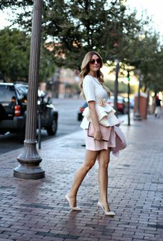 Asos Cream Peplum, Peplum Top, Peplum Shirt, White Peplum Top, Fashion Blog, Fashion Blogger, Caitlin Lindquist, A Little Dash of Darling, D...