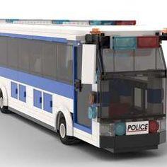 Lego Bus, Lego Truck, Lego Police, Bus Coach, Lego Architecture, Lego Stuff, Lego Creations, Lego City, Lego Building Sets