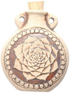 Peruvian Hand Crafted Ceramic High Fire Lotus Bottle Pendant 49mm >>> Be sure to check out this awesome product.