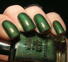 This gorgeous shimmering green lacquer will have your nails feeling like they're flying high with the dragons. Collection: The Legend Stunning nails by theswatchaholic and thepolishedperfectionist