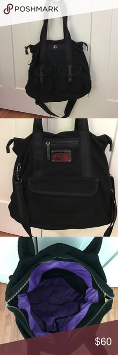 Lululemon Lucky Tote Bag - Black Wool Good condition Lululemon Lucky tote. Great for the gym or travel. Pre-owned condition - see photos. No rips, snags, or tears. Super roomy. No off-posh deals please. Thanks! lululemon athletica Bags Totes