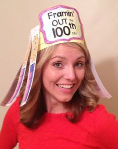 Here's a terrific idea for a ten frame hat for celebrating the 100th day.